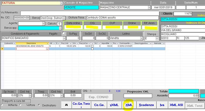 Generazione File XML